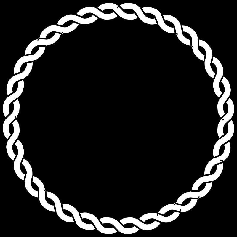 Free Clipart: Rope border circle.