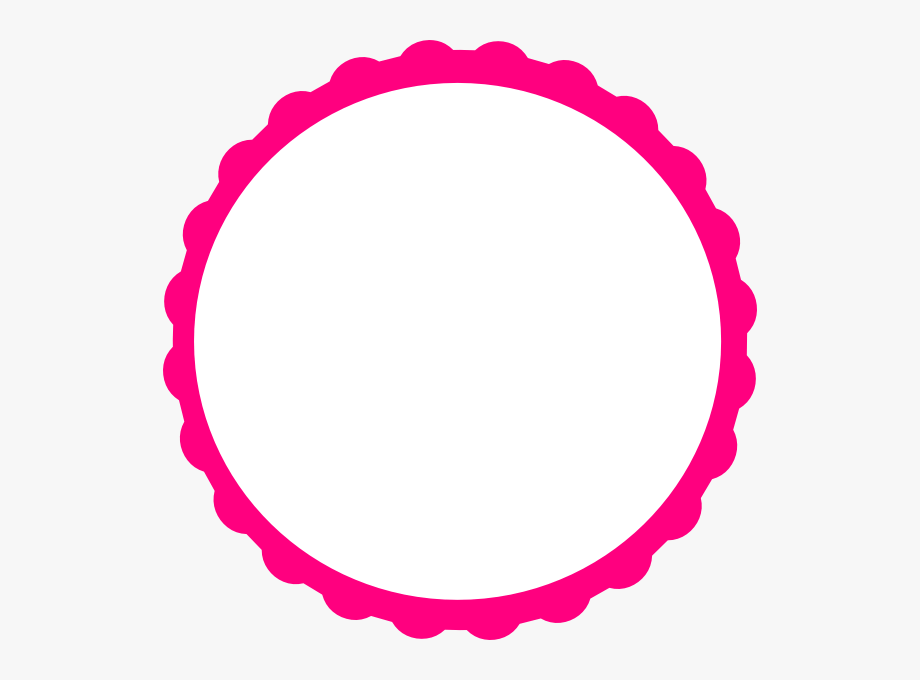 Pink Scallop Circle Frame Clip Art At Clker.