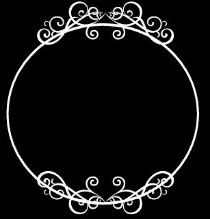 round circle border frame.