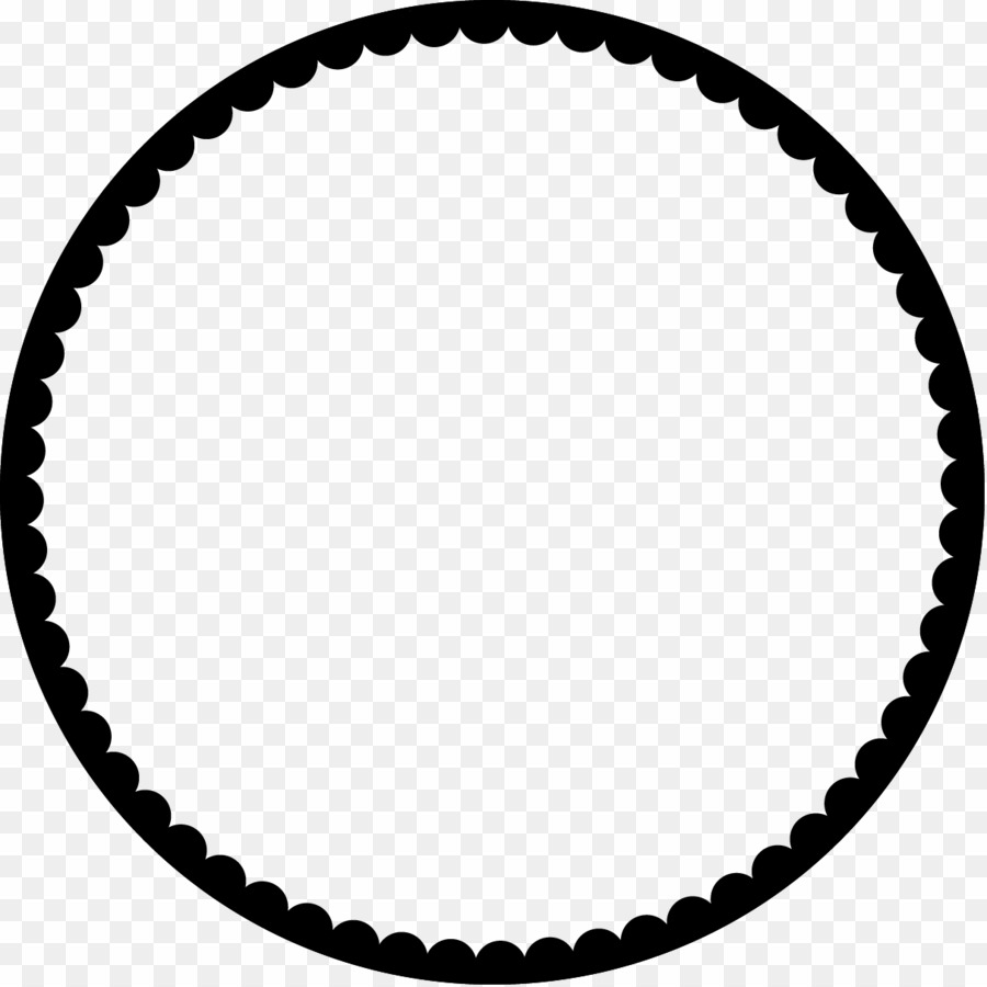 Circle Scalloped Border PNG Scallops Clipart download.