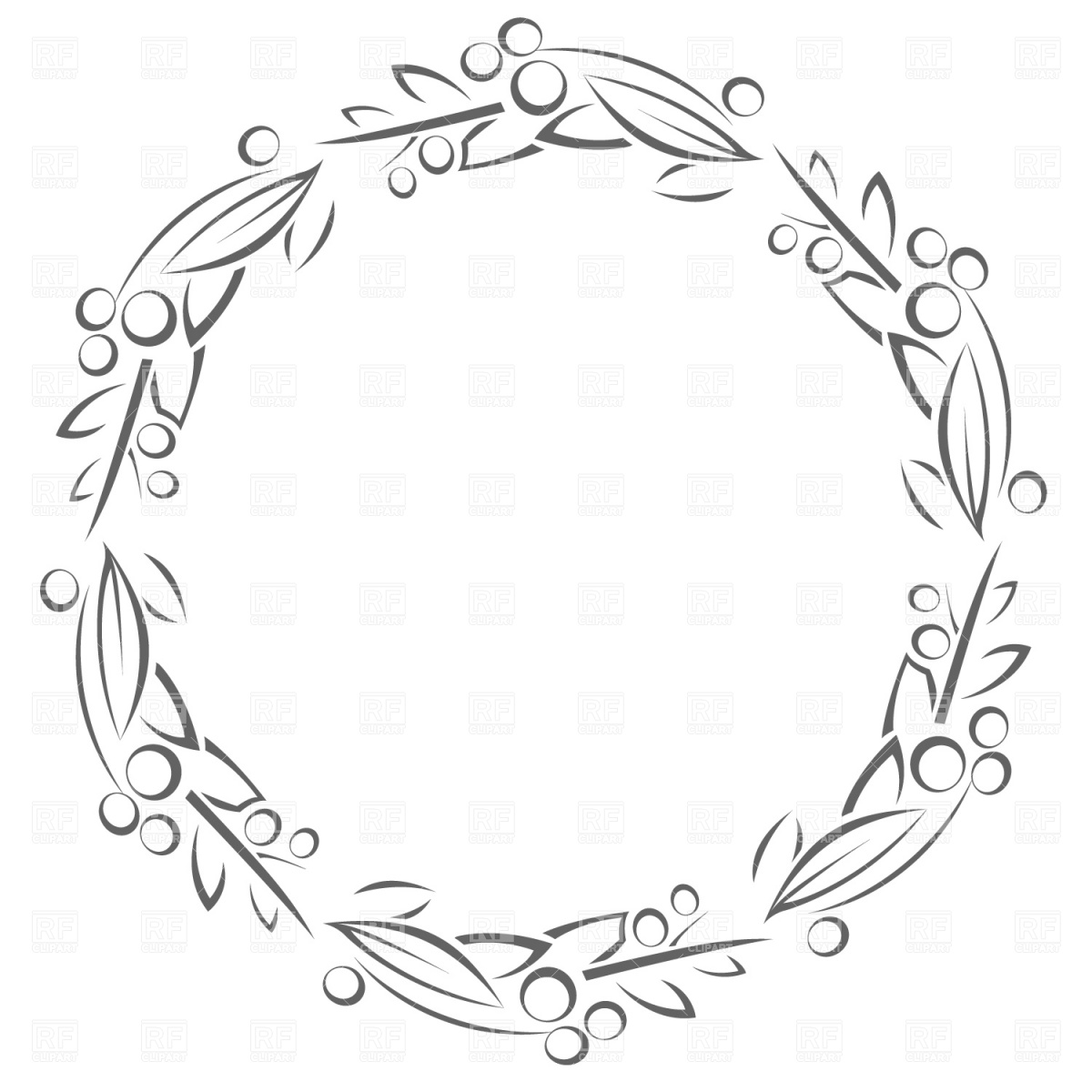 Circle frame with leaves Stock Vector Image.