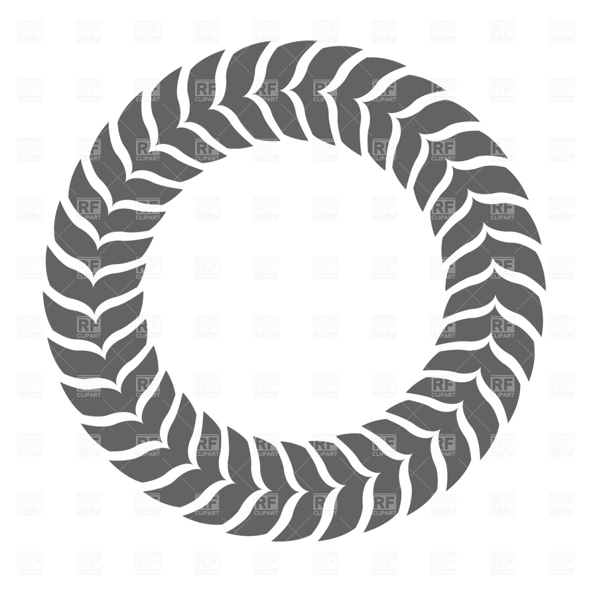 Leaf circle Stock Vector Image.