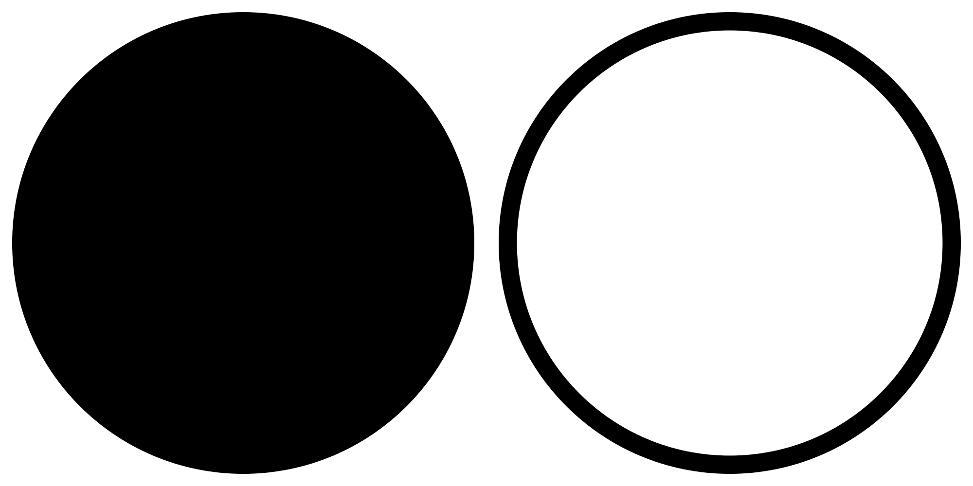 Circle clipart black and white, Circle black and white Transparent.