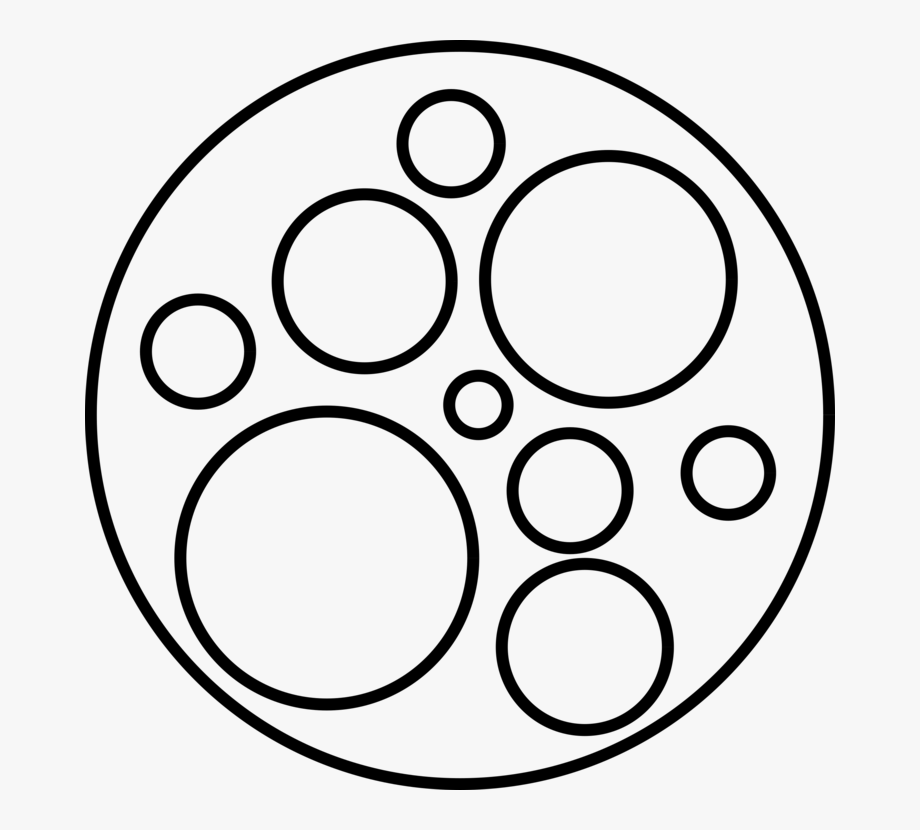Circle Computer Icons Black And White Shape Set.