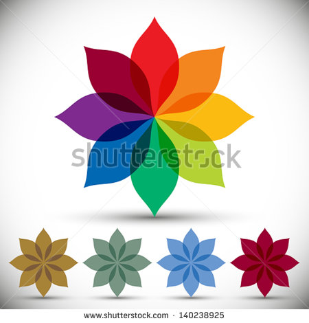 Color Spectrum Flower Rainbow Circle Vector Stock Vector 140238925.