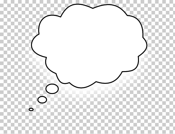 Black and white Circle Area , Thought Bubble Generator PNG.