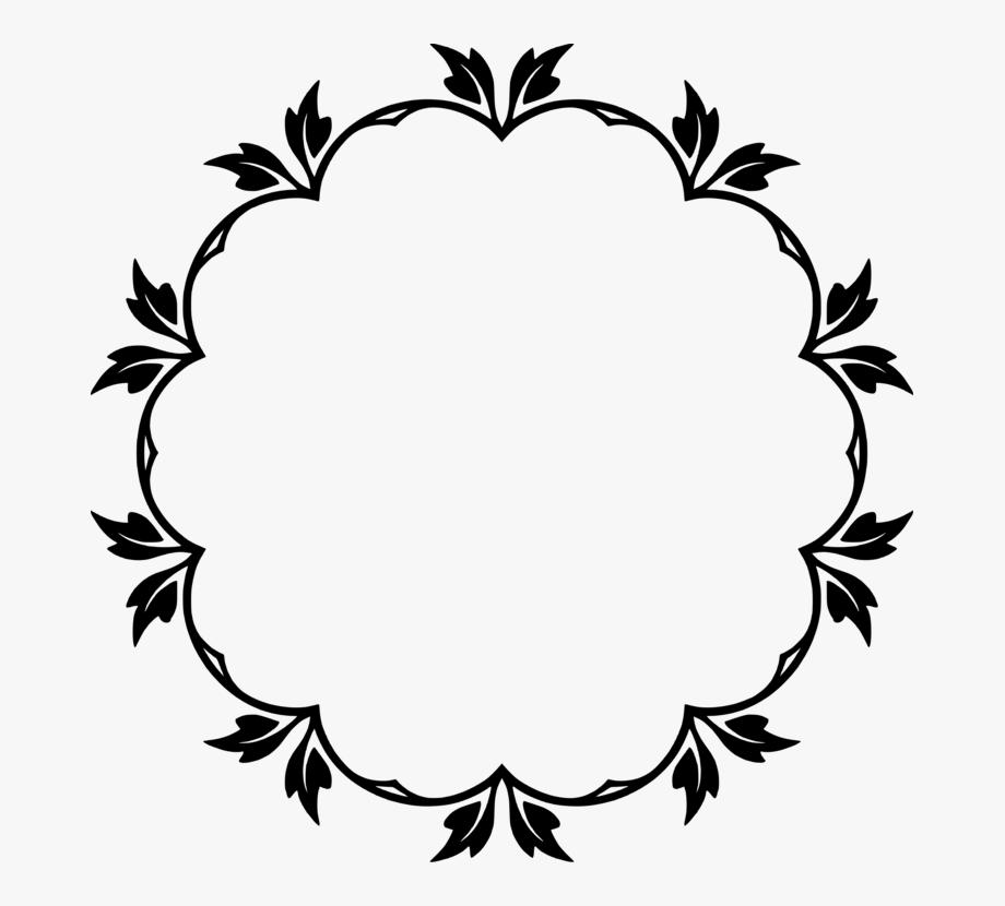 Circle Clipart Floral.