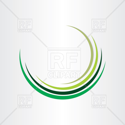 Green half circle design Vector Image.