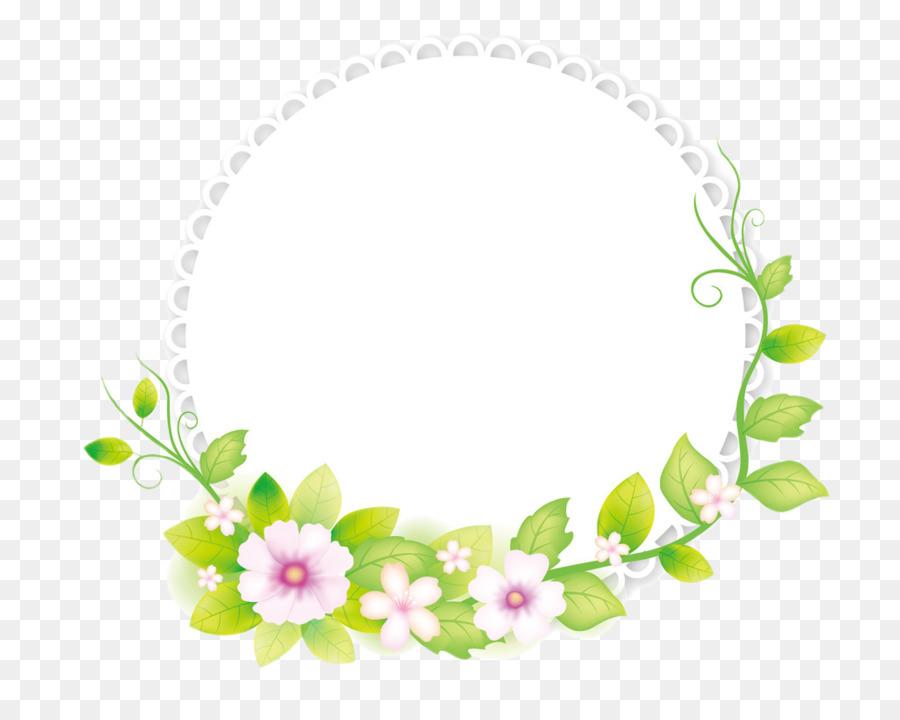 Floral Border Frame png download.