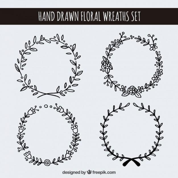 circle flower wreath clipart #10