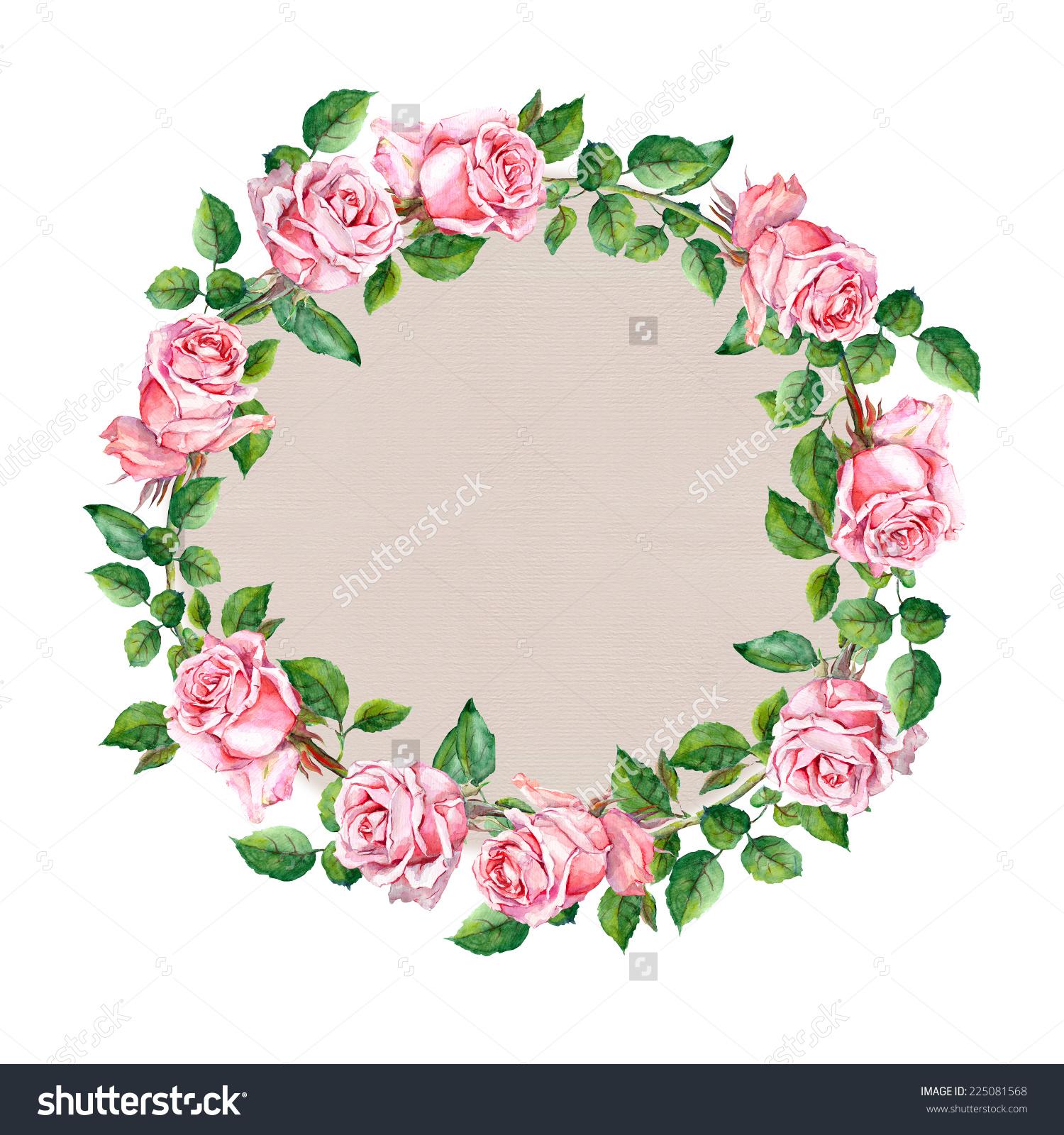 circle flower wreath clipart #13