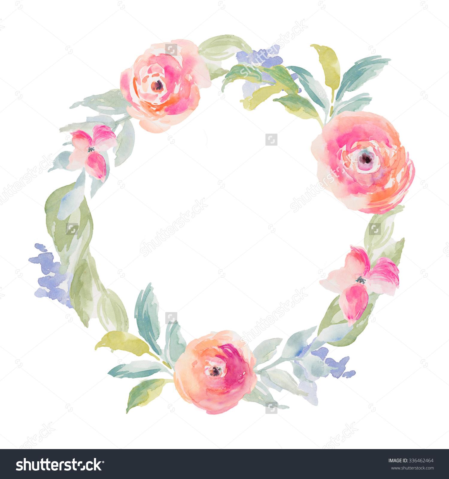 circle flower wreath clipart #19