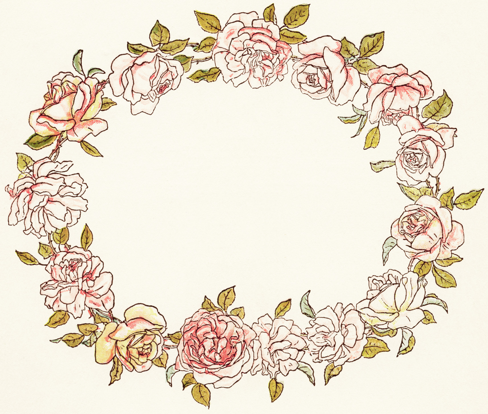 circle flower wreath clipart #2