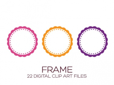 Digital Frame Clipart for Personal & Commercial Usage.