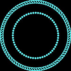 Blue Rope Circle Frame PNG, SVG Clip art for Web.