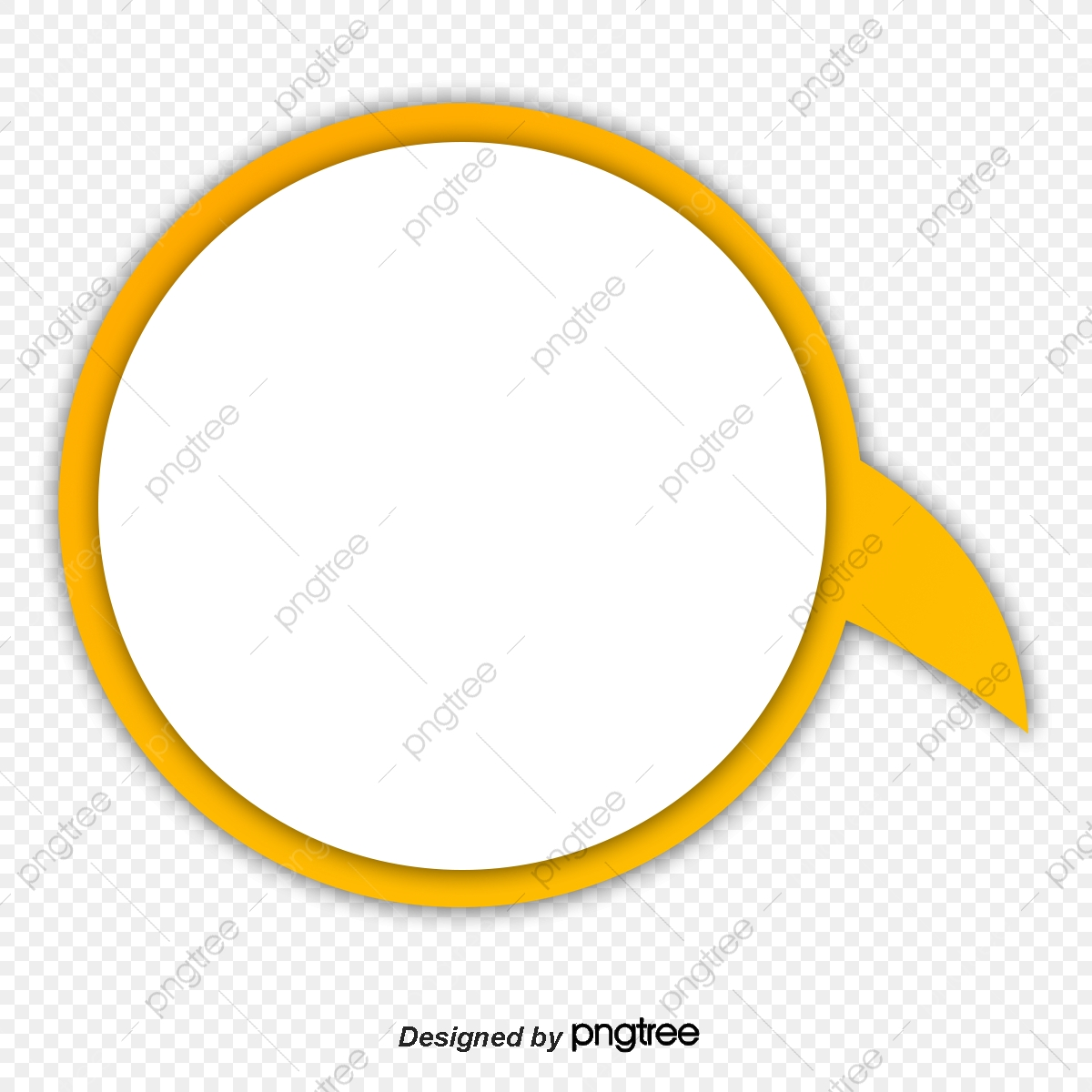Yellow Circle Frame, Circle Clipart, Frame Clipart, Yellow PNG.