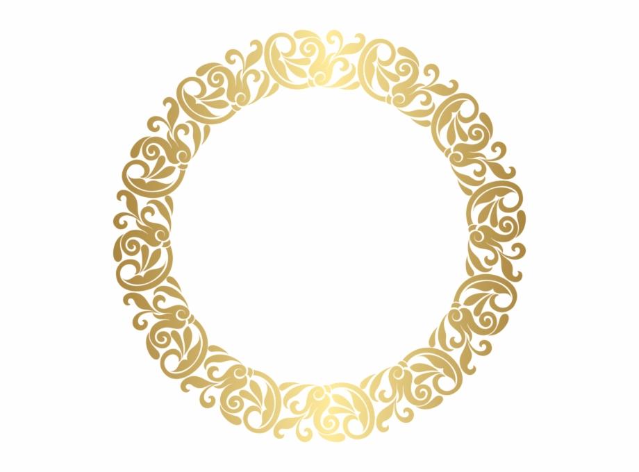 Gold Circle Png.