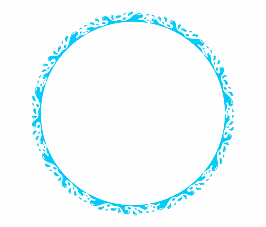 Blue Circle Frame Vector Clipart Frame Blue Circle.