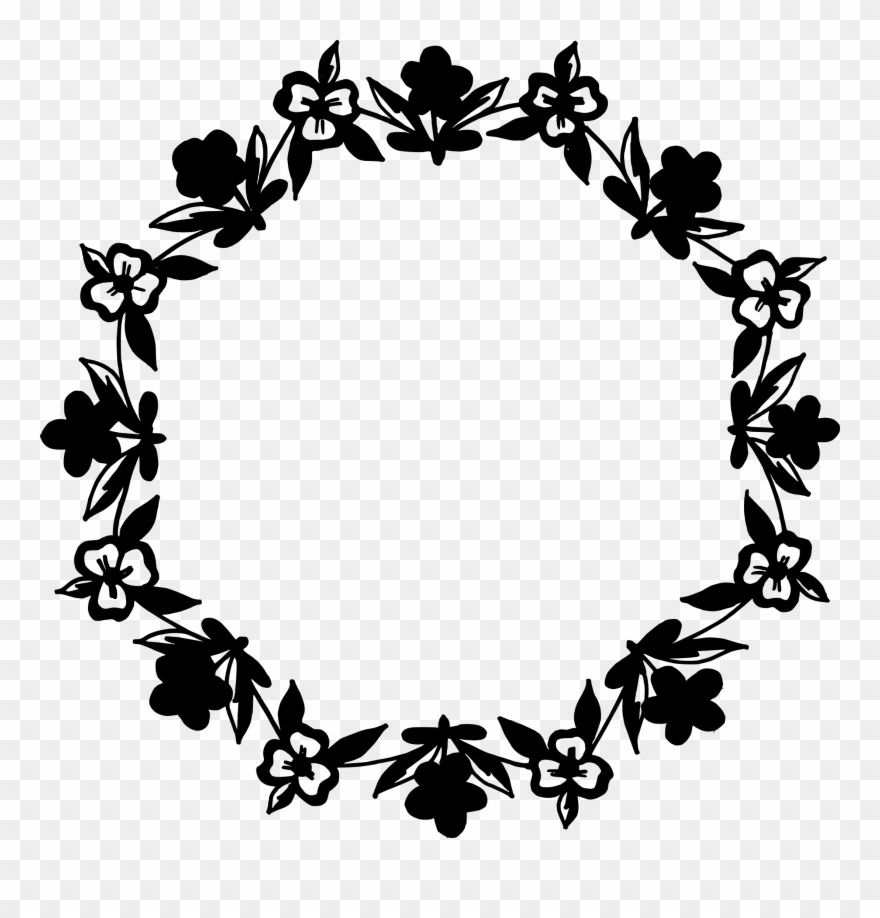10 Circle Floral Frame Vector Png Transparent Svg Nautical.