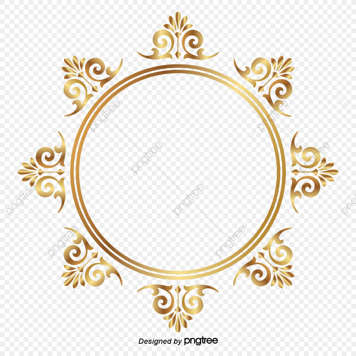 Golden Circle Frame ลายกระจัง Malfunctions, Thai, ., Frame Vector.