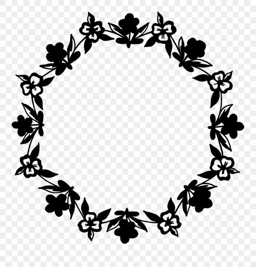 Imimwb Circle Floral Frame Vector Png Transparent Svg.