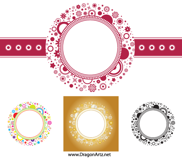 Free Flower Circle Frame Vector Free PSD files, vectors & graphics.
