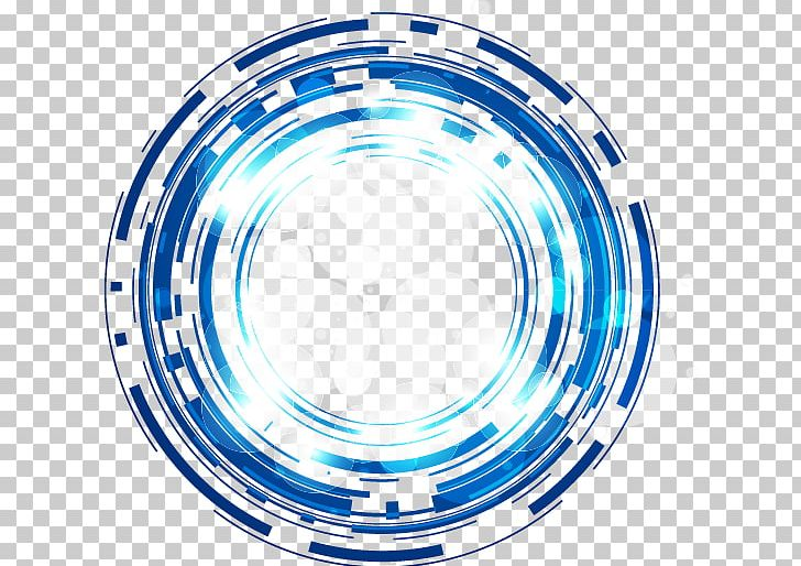 Science And Technology Abstract Blue Fantasy Glow Circle PNG.
