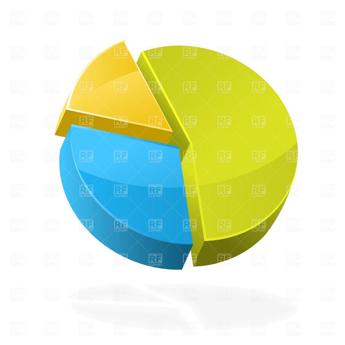 Pie chart icon Stock Vector Image.