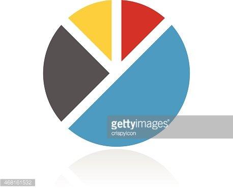 Color Pie Graph Icon premium clipart.
