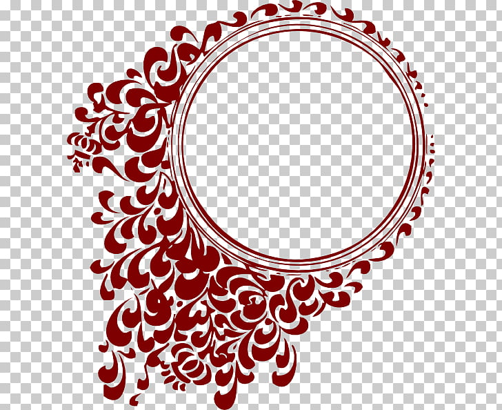 Scalable Graphics , Circle Frame HD, red floral illustration.