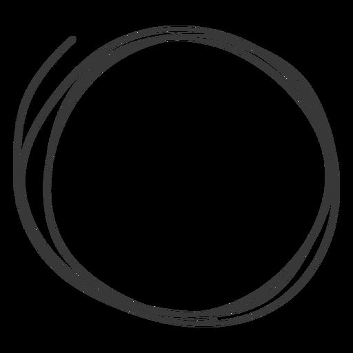 Hand drawn circle icon.