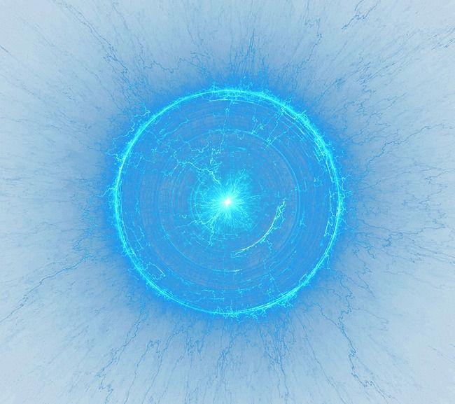 Circle Light Effect, Circle Clipart, Blue, Light Spot PNG.