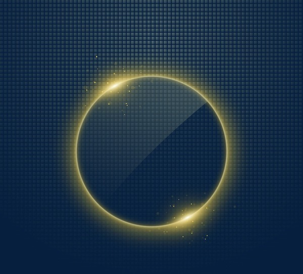 Circle Light Effect, Circle Clipart, Gold, Bright PNG Transparent.
