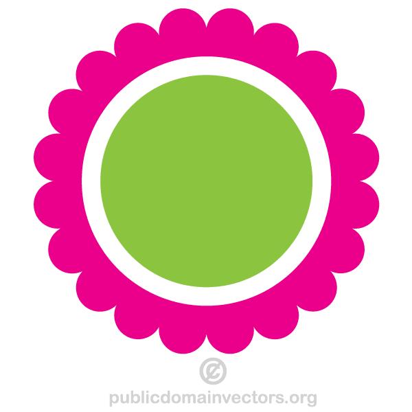 Circle Flower Vector Clip Art.