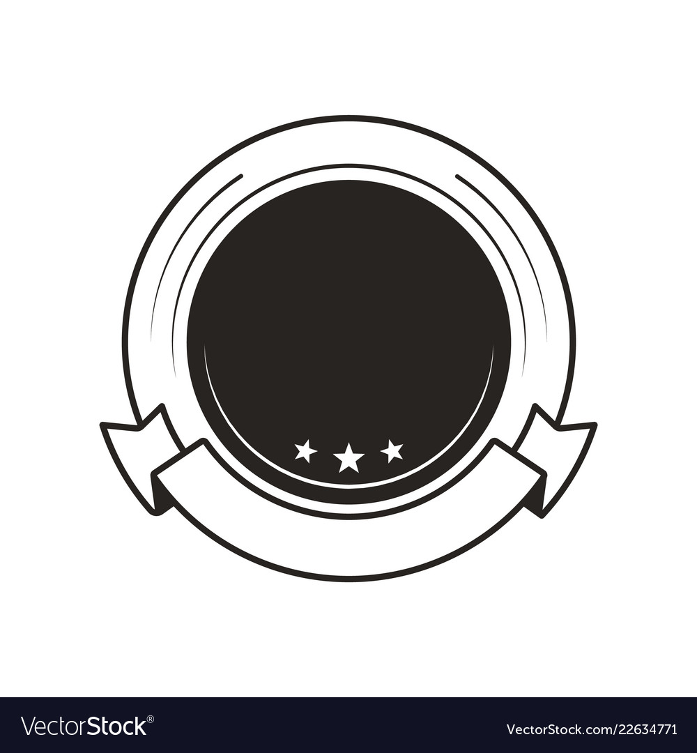 Medal for win blank template round monochrome logo.