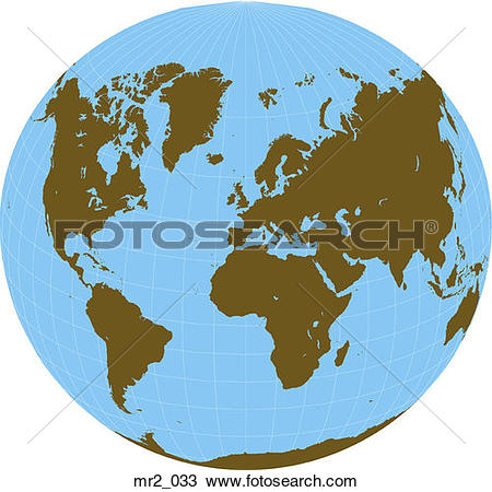 Stock Photo of map, world, world in a circle mr2_033.
