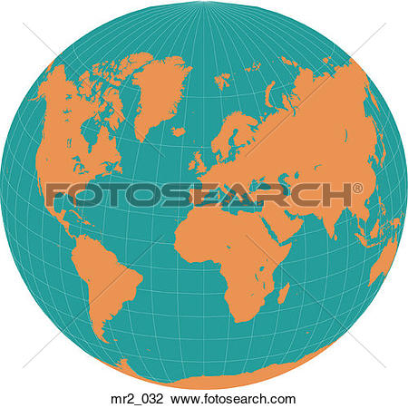 Stock Photo of map, world, world in a circle mr2_032.