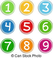 Circle number clipart - Clipground