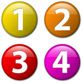 Clipart numbers in circles.