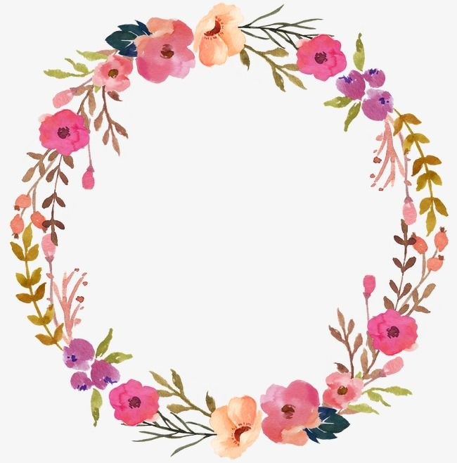 Floral clipart circle, Floral circle Transparent FREE for.