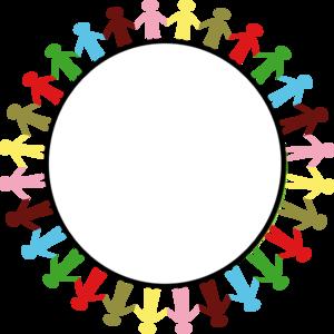 circle of hands art.