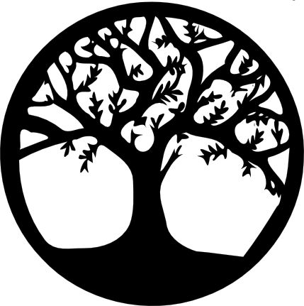 make the wallhanging a circle for tree of life. circle of life.