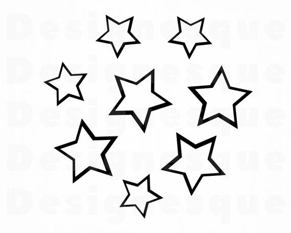 Star Circle SVG, Stars Svg, Stars Clipart, Stars Files for Cricut, Stars  Cut Files For Silhouette, Stars Dxf, Stars Png, Eps, Stars Vector.