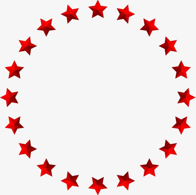 Red Simplified Star Circle PNG, Clipart, Award, Backgrounds, Border.
