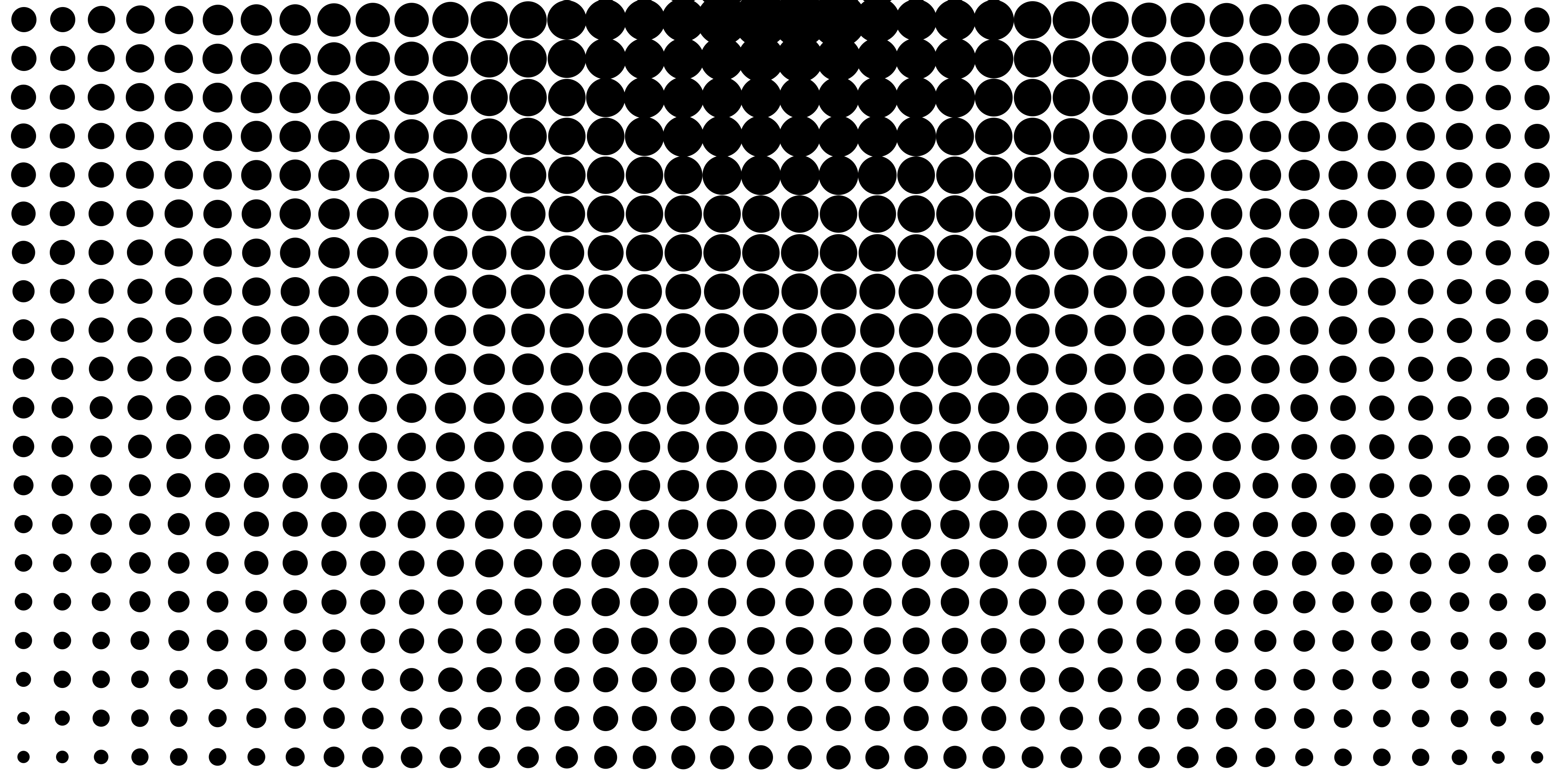 Circular Black and White Halftone Pattern.