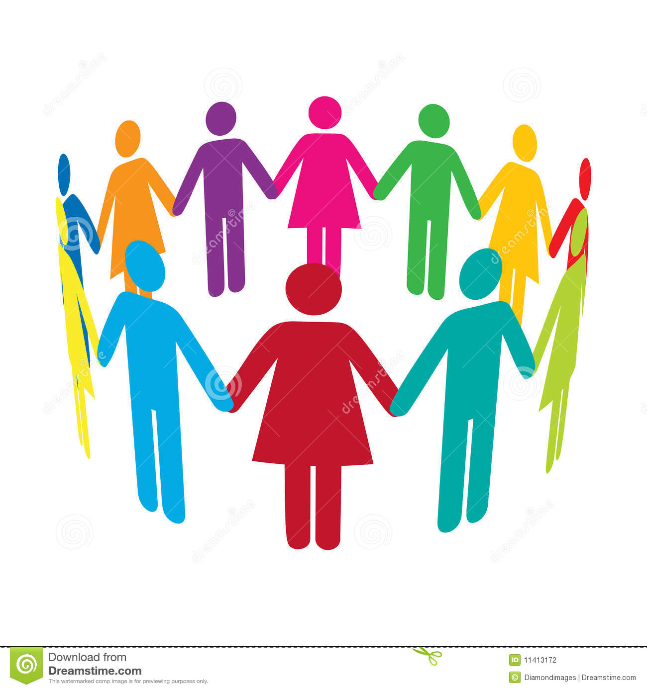 Circle Of People Clipart.