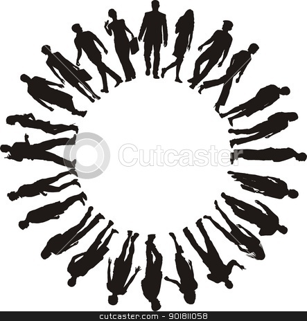 Clipart People In A Circle.
