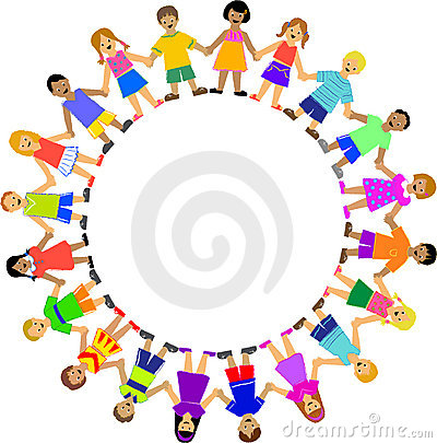 Circle Of Children Holding Hands Royalty Free Stock Image.