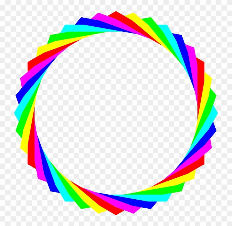 Rainbow Circle Clip Art.