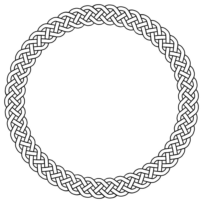 4 plait border circle.